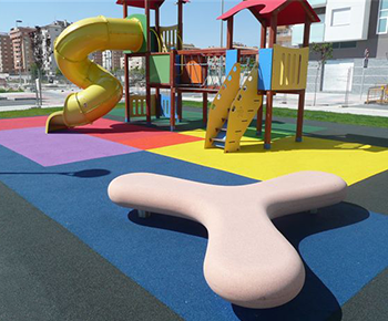 Baldosas elásticas, suelos para parques infantiles